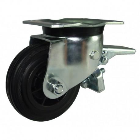 Ruedas industriales carga estándar 125-1200 Kg R.S8231604 Z NYL/GN LI F
