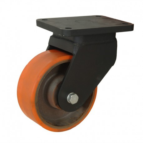 Ruedas industriales soporte extra fuerte 500-7000 Kgs R.MS8643004 PN FE/POL BO
