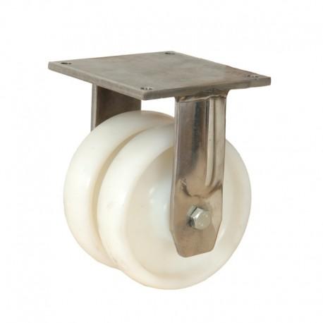 Ruedas industriales soporte extra fuerte 500-7000 Kgs R.MS8682009 INOX NYL 2 LI