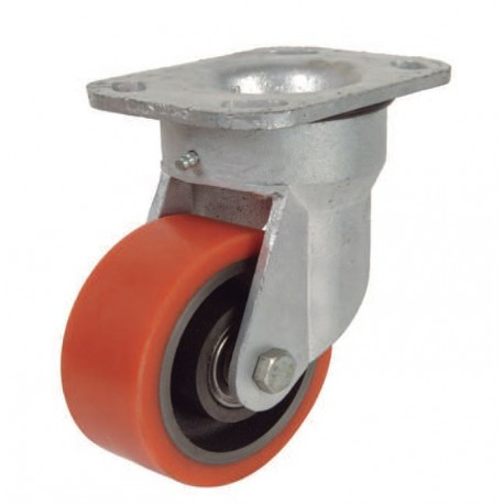 Ruedas industriales soporte extra fuerte 500-7000 Kgs R.ER8501504 PG FE/POL BO