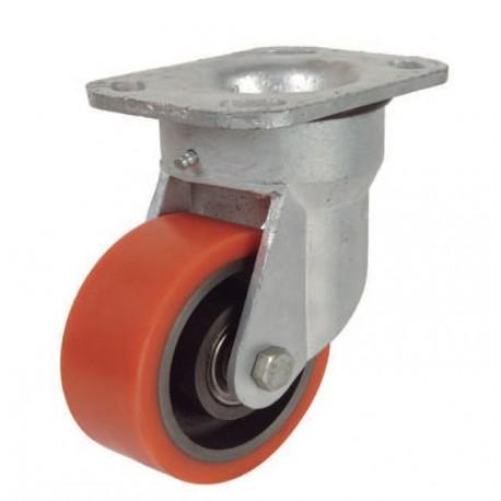 Ruedas industriales soporte extra fuerte 500-7000 Kgs R.ER8502504 PG FE/POL BO